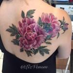 Peony Flowers shoulder blade