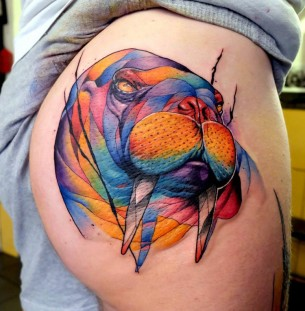 Colourful tattoos best tattoo ideas designs part 2 for Tattoos on your butt
