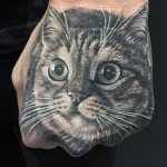 Cat Hand Tattoo
