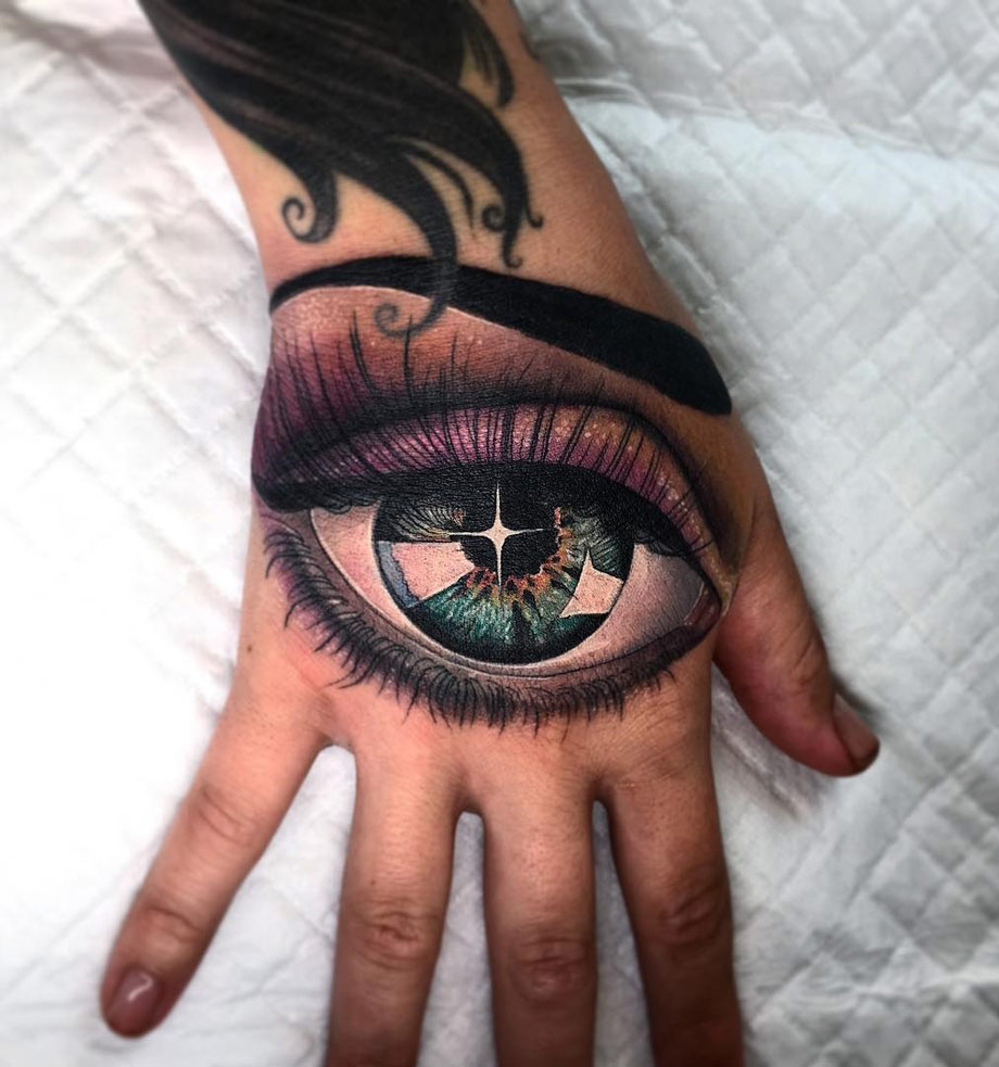 Eye hand tattoo