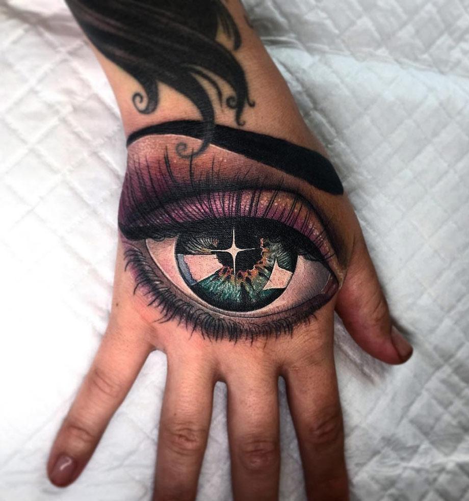 Eye On Girls Hand Best Tattoo Design Ideas