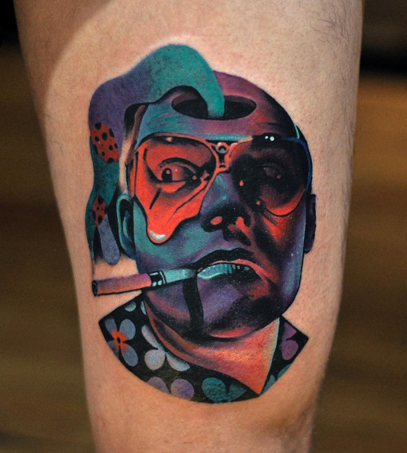 Psychedelic Raoul Duke Tattoo