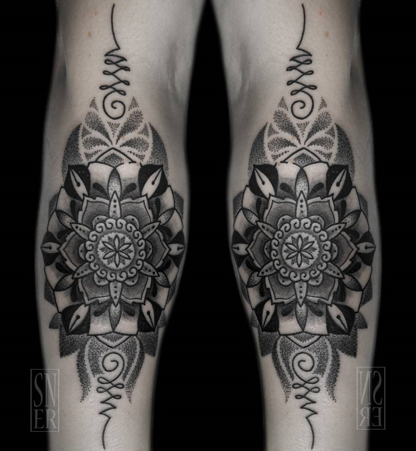 dotwork mandala on woman 39 s forearm best tattoo design ideas. Black Bedroom Furniture Sets. Home Design Ideas