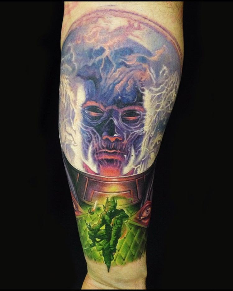 Marvel sleeve best tattoo design ideas for Marvel sleeve tattoo black and white