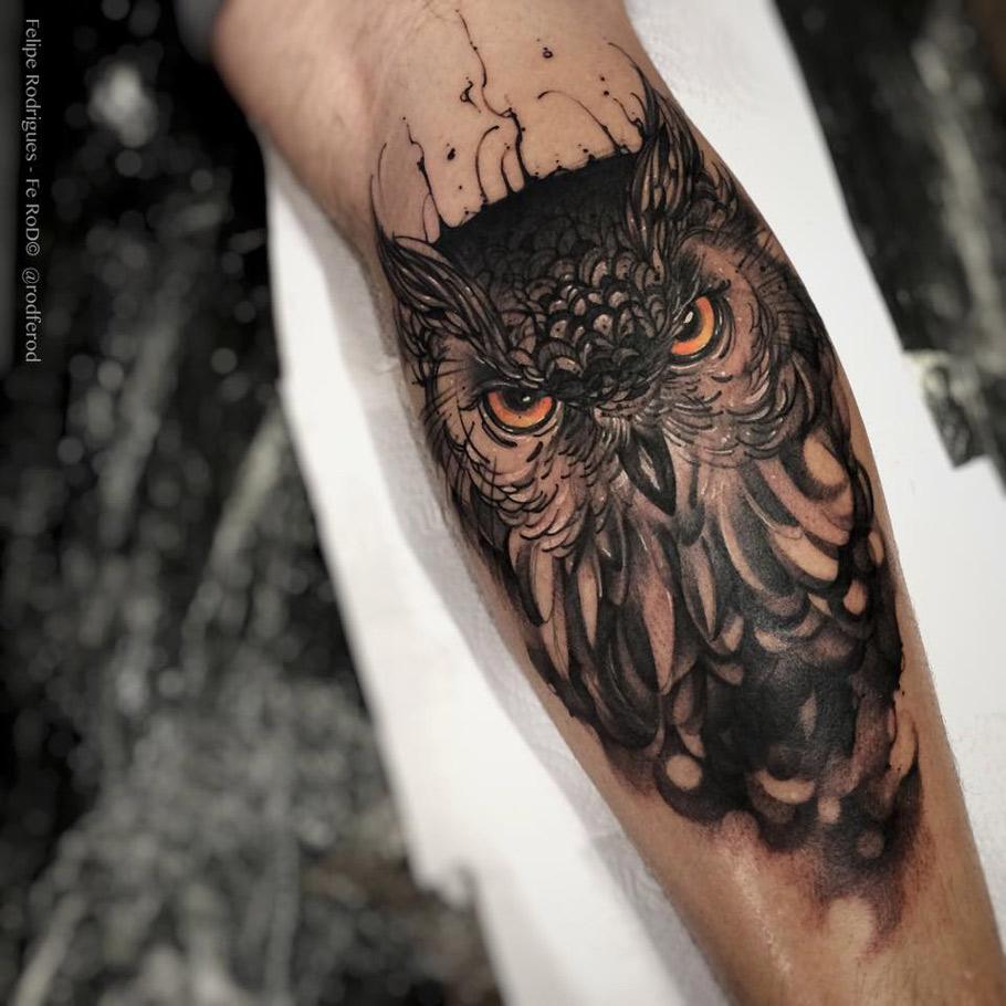 2e2222049 Owl With Piercing Eyes | Best tattoo design ideas