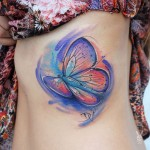 Butterfly Side Tattoo