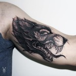 Scary Wolf tattoo