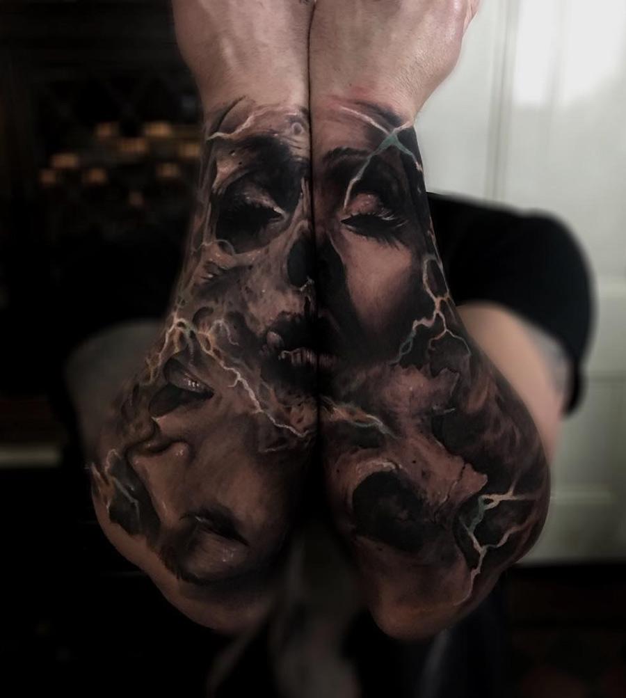 Skull Portrait Forearm Sleeves Best Tattoo Design Ideas