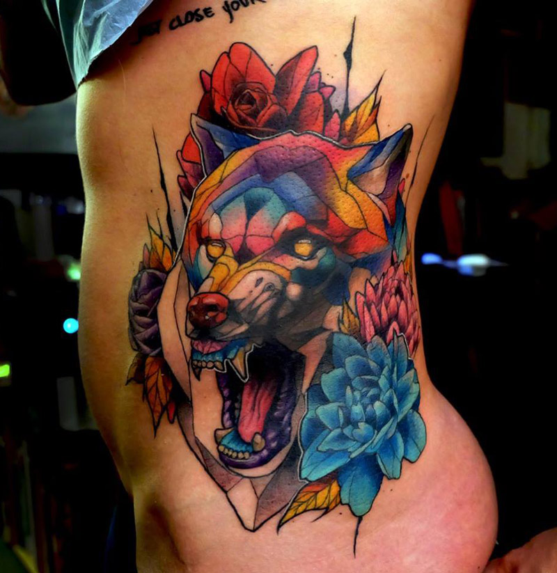 Wolf Side Tattoo