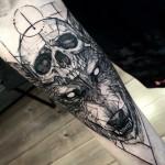Wolf & Skull