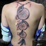 Dreamcatcher Back Tattoo