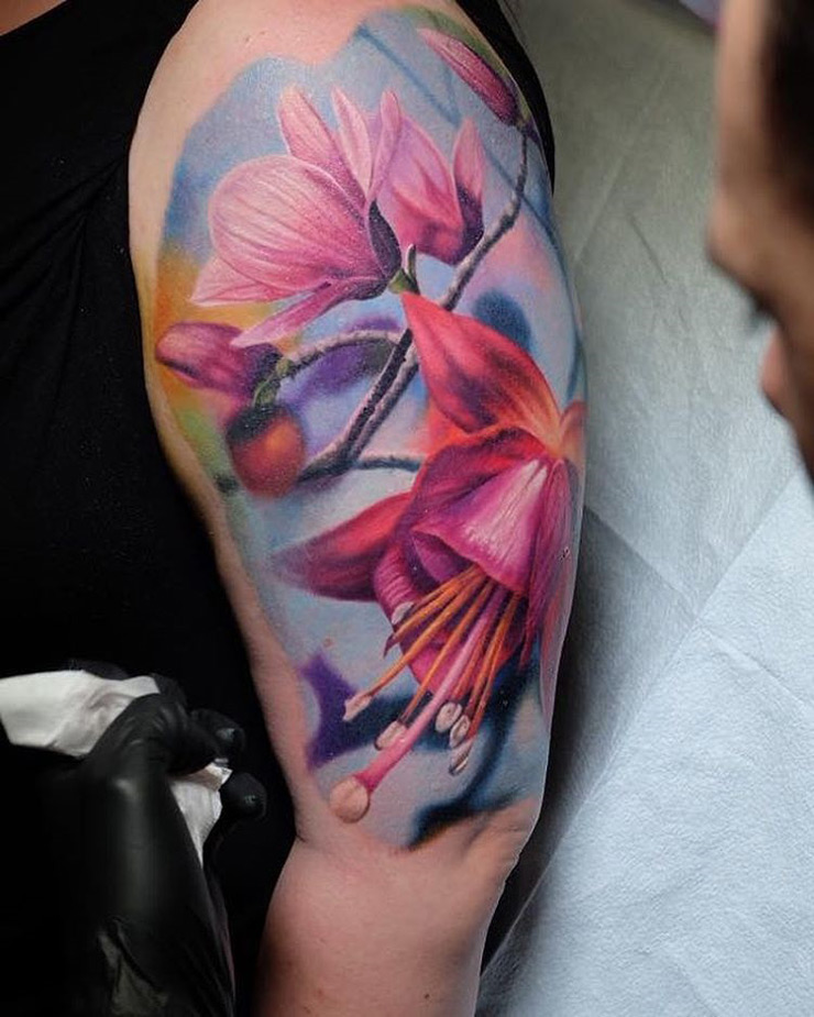 Beautiful Fuchsia Tattoo