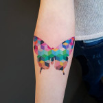 Colorful Geometric Butterfly