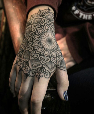 Mandala Hand Tattoo