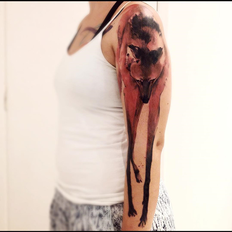 Maned Wolf Tattoo