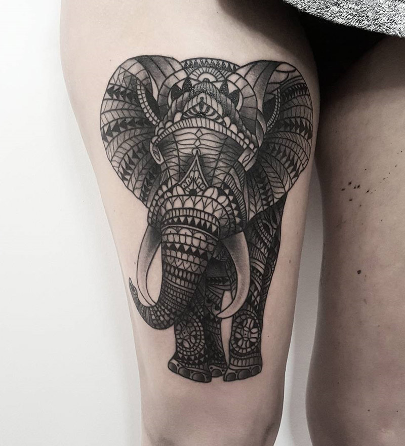 ornamental elephant best tattoo design ideas. Black Bedroom Furniture Sets. Home Design Ideas