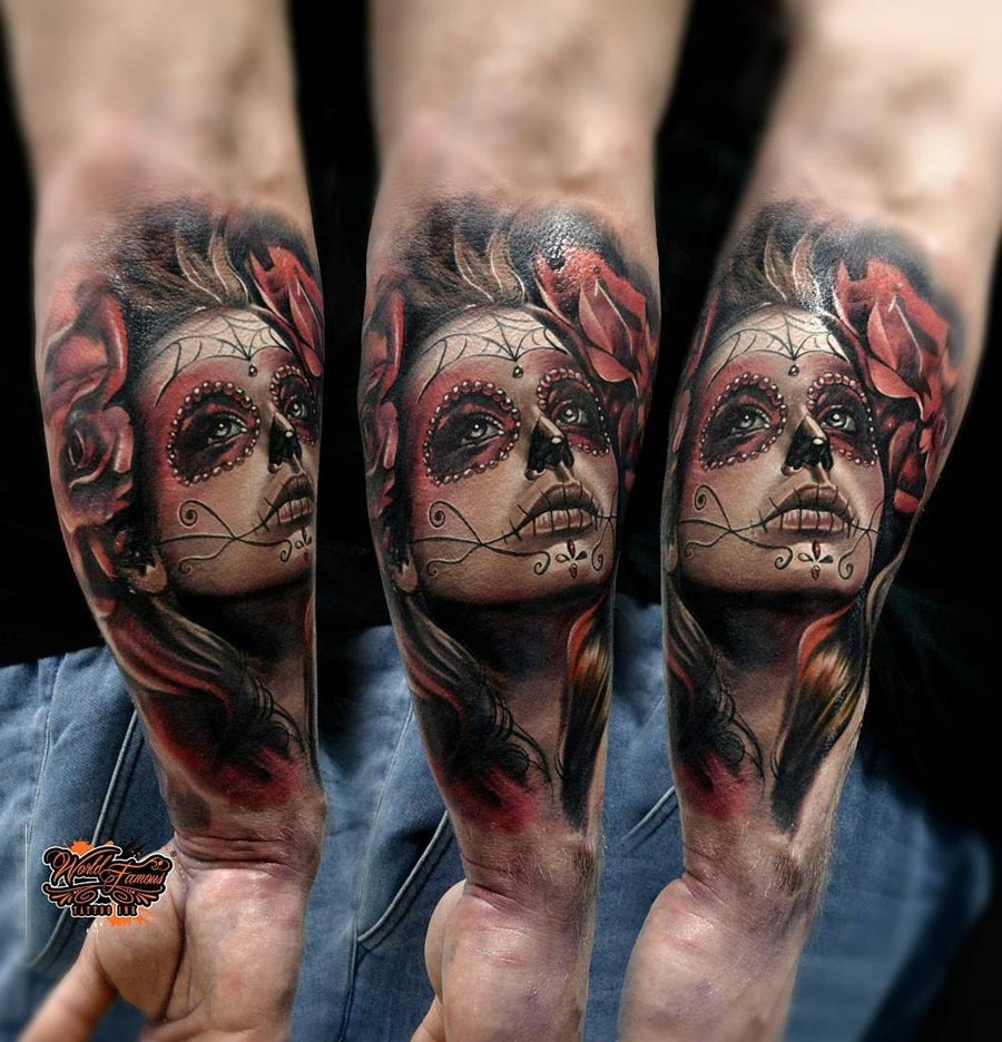 Day of the Dead Forearm Tattoo