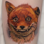Goofy Fox tattoo