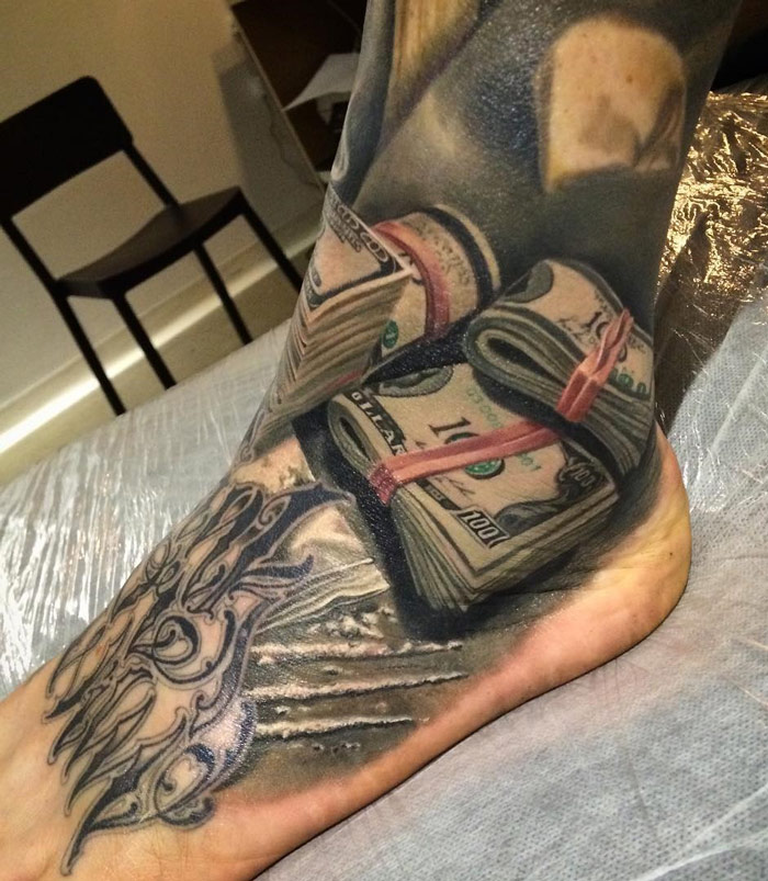 $100 Bills Tattoo
