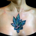 Crystal Chest Tattoo