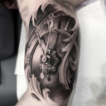 Custom Clock Tattoo