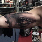 Eyes Bicep Tattoo