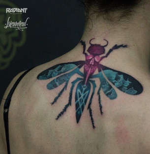 Hornet Neck Tattoo