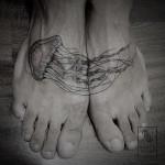 Jellyfish Foot Tattoo