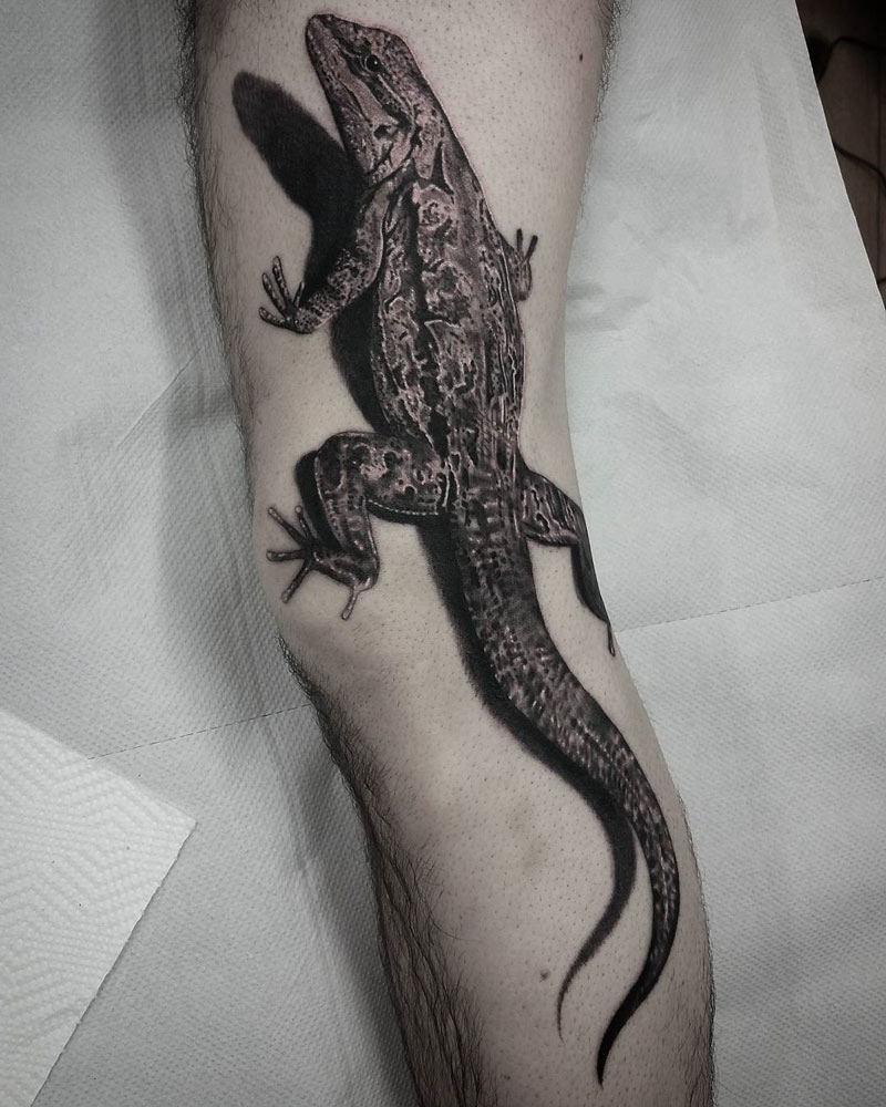 Lizard Leg Tattoo