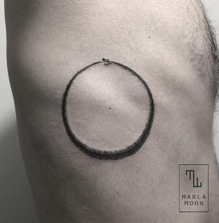Ouroboros Side Tattoo