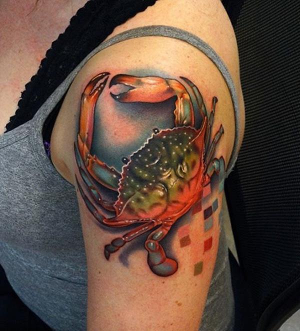 Crab Shoulder Tattoo