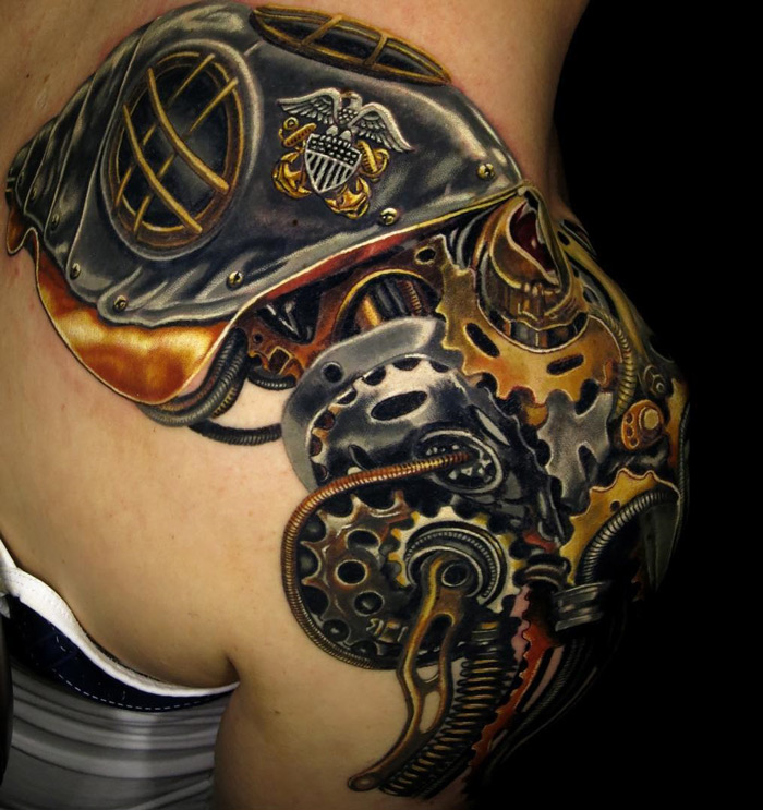 Mechanical Octopus Tattoo