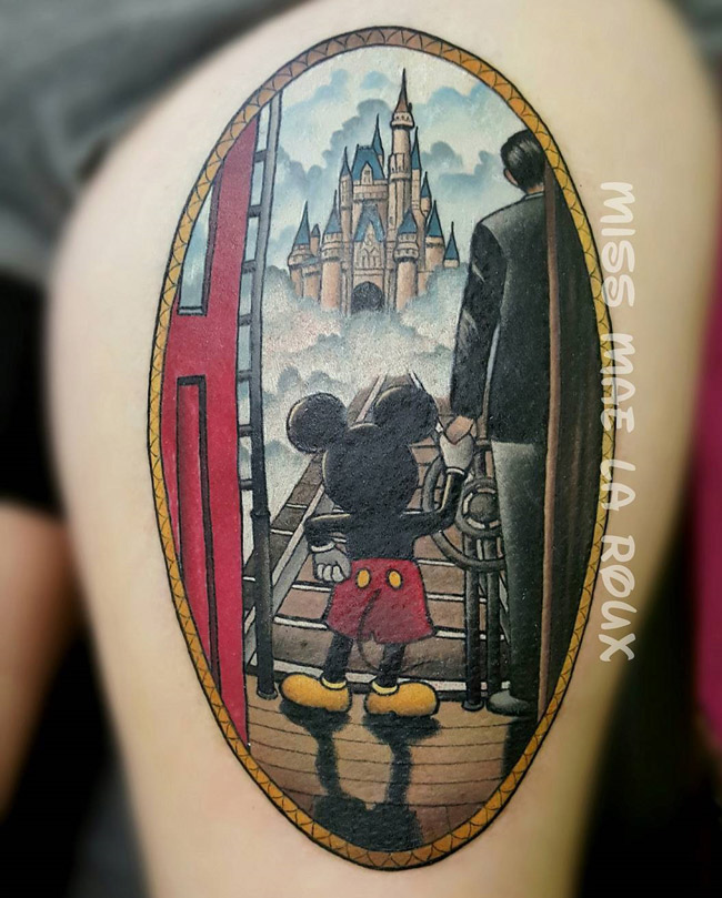 Mickey Mouse Amp Walt Disney Holding Hands Best Tattoo