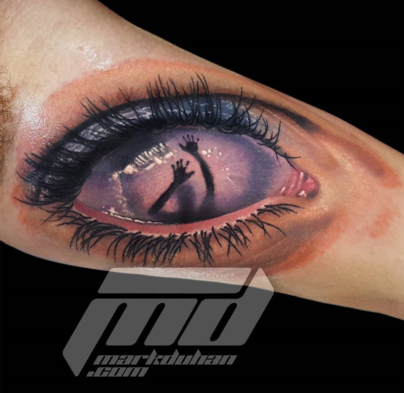 Behind the eye best tattoo design ideas for Tattoos in the eye