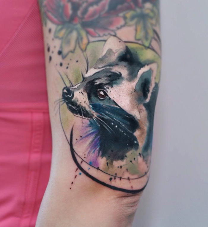 Raccoon Arm Tattoo