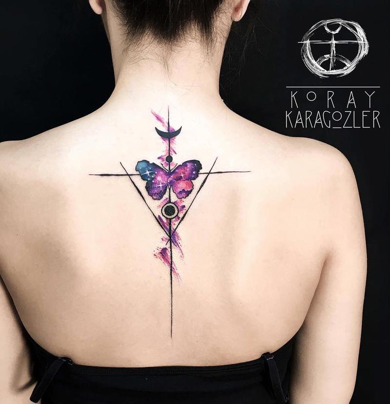 Geometric butterfly tattoo