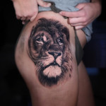 Lion Hip Tattoo