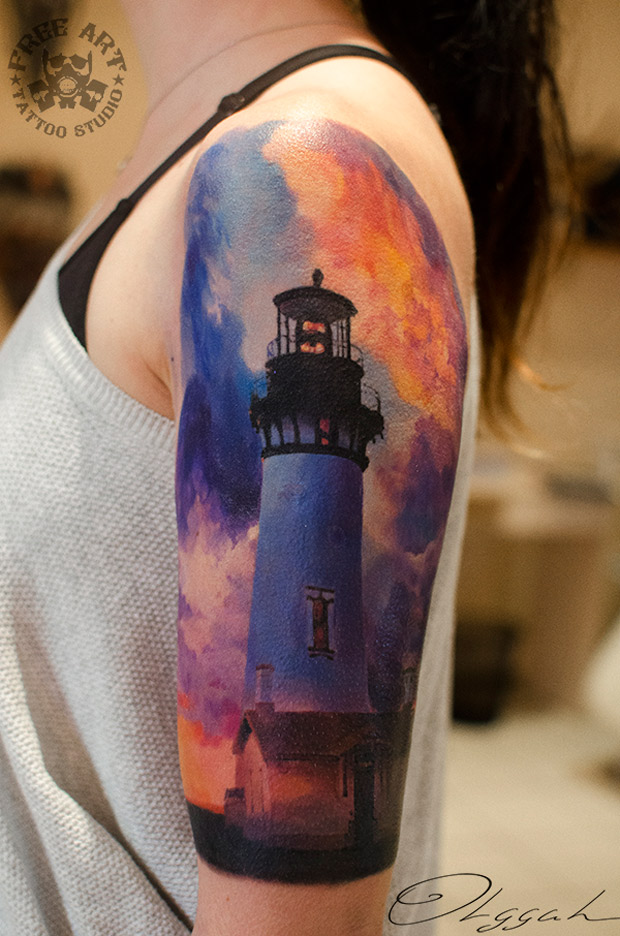 Realistic Lighthouse Sleeve