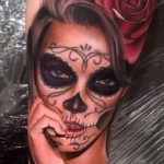 Realistic Day of the Dead Tattoo