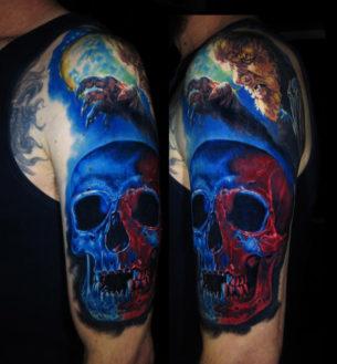 Werewolf & Skull