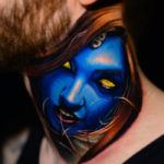 Mystique Neck Tattoo