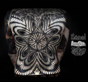 Abstract Pattern Back Tattoo
