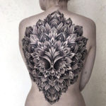 3D Mandala Back Tattoo