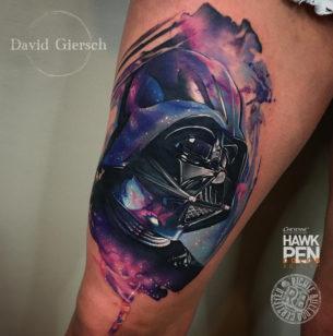 Darth Vader Space Tattoo