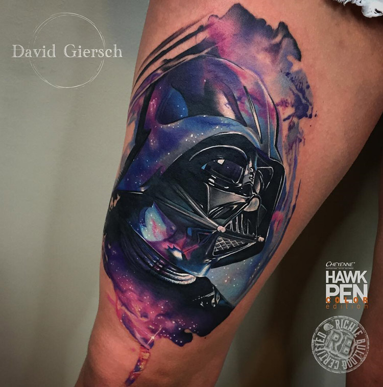 Darth Vader Space Tattoo