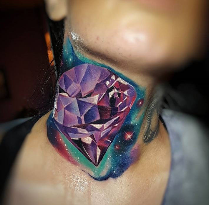 Gem Neck Tattoo