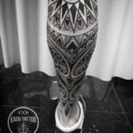 Maori Tribal Calf Tattoo