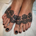 Ornamental Feet Tattoos