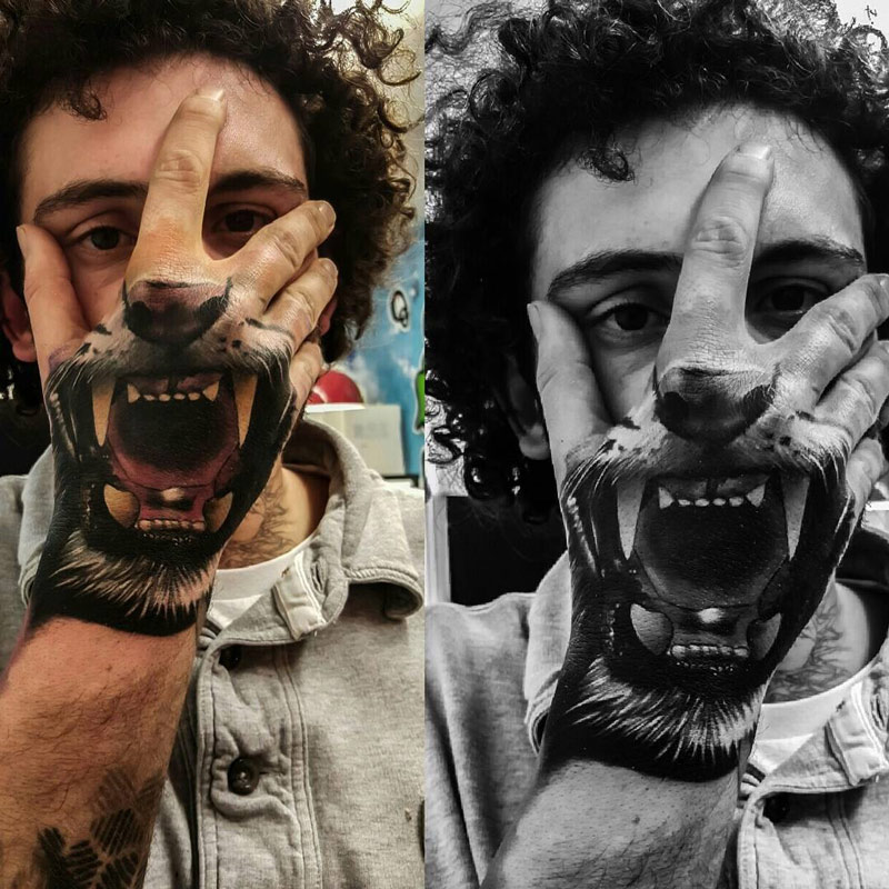 Tiger Mouth Hand Tatto... Tumblr Photography Anchor