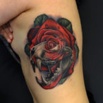 Tiger Skull & Rose Morph